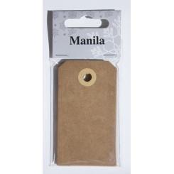 Manillamærker, 10 stk., natur