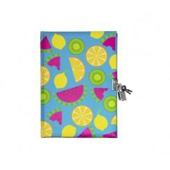 Dagbog med lås, frugter