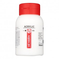 Akryl maling 750 ml, Titanium White 105