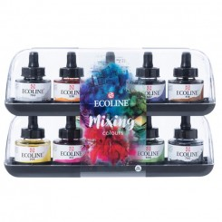 Ecoline Flydende akvarel blandesæt 10 x 30 ml
