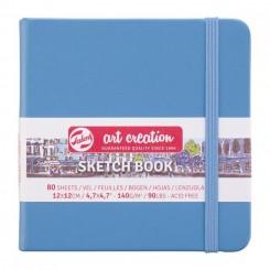 Sketch- og notesbog, 12x12cm, Lake Blue
