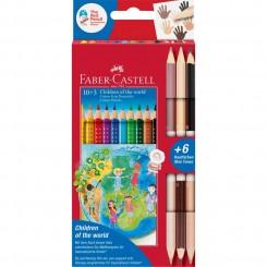 Faber Castell GRIP farveblyanter, 13 stk. inkl. 3 skin toner