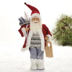 Julemand med kælk, 48 cm