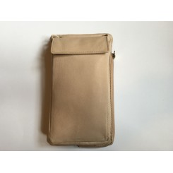 Treats lille taske/ halspung blød mat skind, nude / lys beige