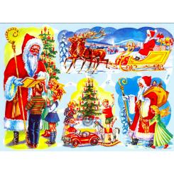 Glansbilleder julebilleder / 3-7123