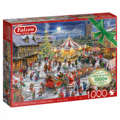 Puslespil The Christmas Carousel, 2x1000 brikker