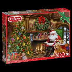 Puslespil, Santa by the Fireplace, 500 brikker