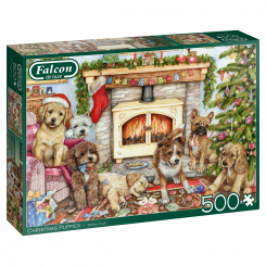 Puslespil, Christmas Puppies, 500 brikker