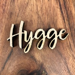 Mini træ skilt - Hygge