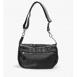 Sophia Leather Black w. silver
