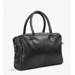 Isabell Leather Black w. silver