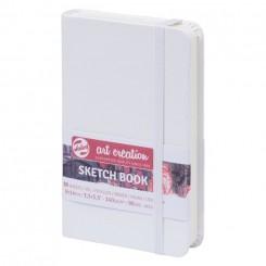 Sketch- og notesbog, 9x14cm, White