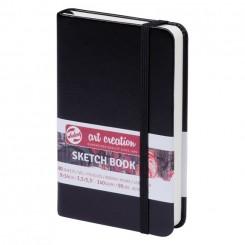 Sketch- og notesbog, 9x14cm, Black