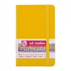 Sketch- og notesbog, 9x14cm, Golden Yellow