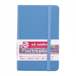 Sketch- og notesbog, 9x14cm, Lake Blue