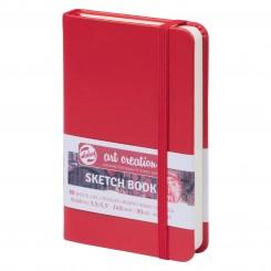 Sketch- og notesbog, 9x14cm, Red