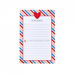 Rice Notesblok med magnet, Candy Stripes
