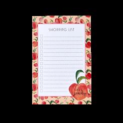 Rice Notesblok med magnet, Peach Print