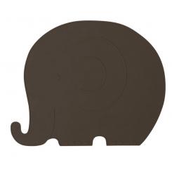 OYOY Dækkeserviet Henry Elefant - Choko