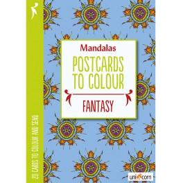 Mandalas postkort til at farvelægge FANTASY