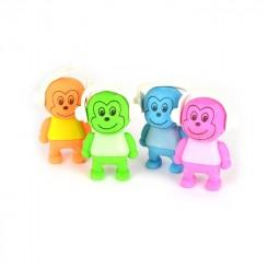 Viskelæder abe med høretelefoner, 5 cm