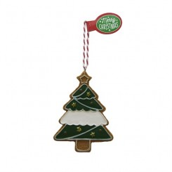 Honningkagefigurer med duft, juletræ m. blank felt