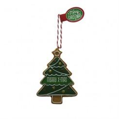 Honningkagefigurer med duft, juletræ merry x-mas