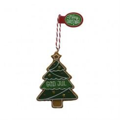 Honningkagefigurer med duft, juletræ god jul