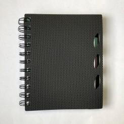 Grafik spiral notesbog, sort