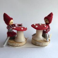 Anne Beate Design, Nissebørnepar med paddehatte