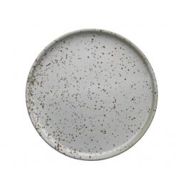 Inka Desserttallerken - Sæt af 2 - Hvid / Lys Brun