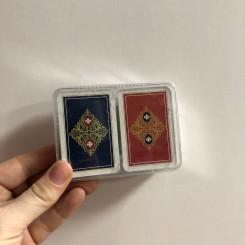 Mini spillekort i plastæske