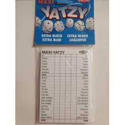 Yatzy med 6 terninger A6 - BLOK