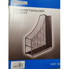 Magasin holder, metal, sort