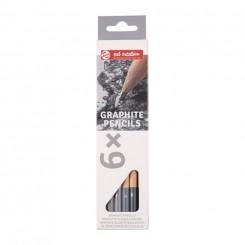 Graphite blyanter, 6 stk.
