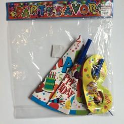 Fødselsdag Party Kit, neutral