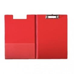 Clipboard m/forside PP A4 rød