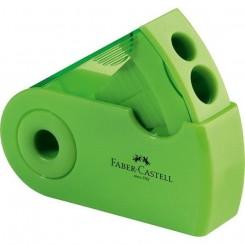 Faber Castell blyantspidser med to huller, grøn