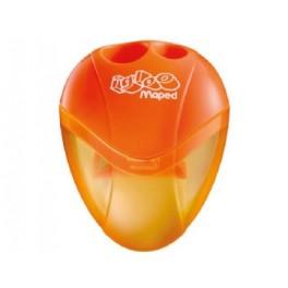 Maped Igloo blyantspidser med to huller, orange
