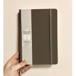 Notesbog mat læderlook, linieret A5, taupe