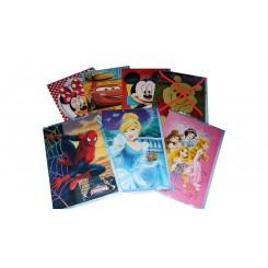 Disney kæmpe kort m. kuvert, forskellige motiver