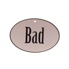 Bad oval - skilt