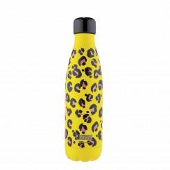 iDrink Drikkedunk 500 ml, Gul Leopard