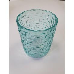 Vase med mønster, turkis