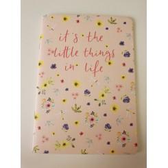 Rössler notesbog, A5, blomster