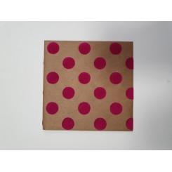 Kuvert med velour prikker, pink