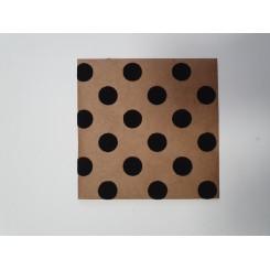 Kuvert med velour prikker, sort