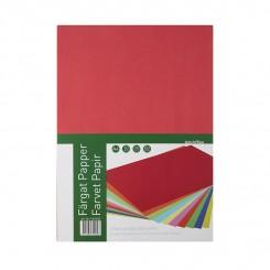Farvet kopipapir, assorteret, 80g, 200 ark.