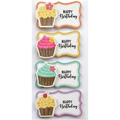 Rössler klistermærker, Cup Cakes Happy Birthday