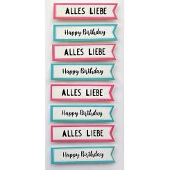 Rössler klistermærker, Happy Birthday/Alles Liebe